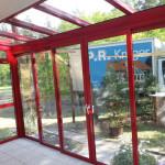 geschlossene Terrassenüberdachung (RAL 3003) 2016/1