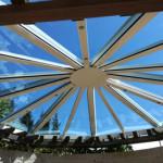 Glasdach für Gartenpavillon 2017/2
