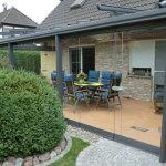 Terrassenüberdachung mit Ganzglas-Falt-Anlage 2013/1