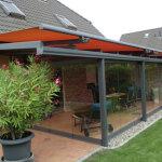 Terrassenüberdachung mit Ganzglas-Falt-Anlage 2013/3
