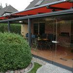 Terrassenüberdachung mit Ganzglas-Falt-Anlage 2013/2